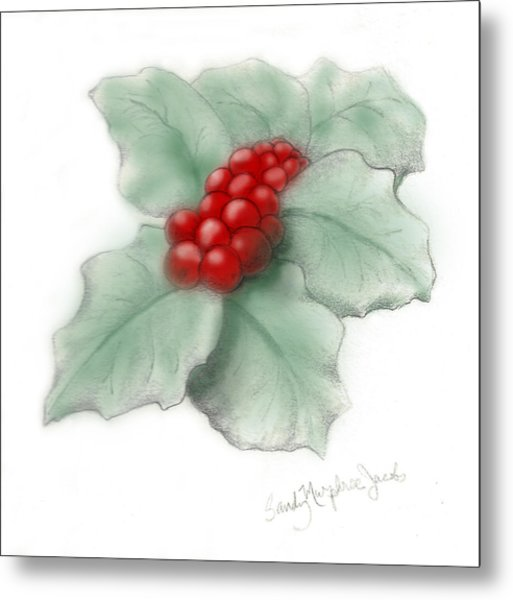 Portland Holly Metal Print