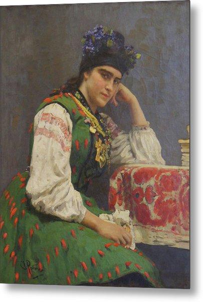 Portrait Of Sophia Dragomirova Metal Print by Ilya Repin