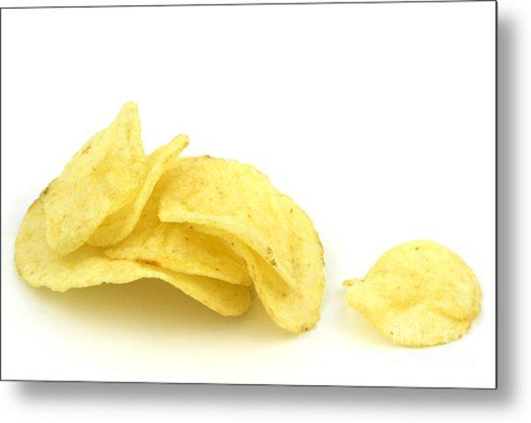 Potato Chips Metal Print