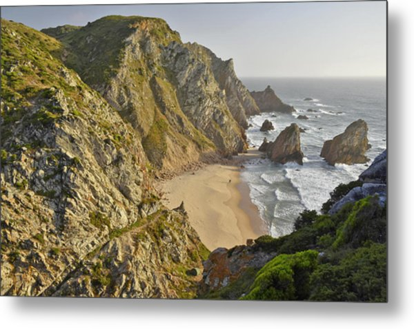 Rugged Coastline Metal Print