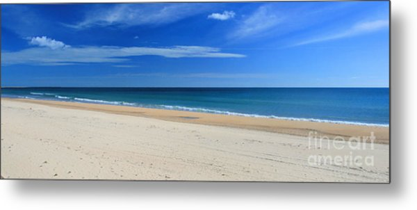 Praia Do Cabeco - Panoramic Metal Print by Carl Whitfield