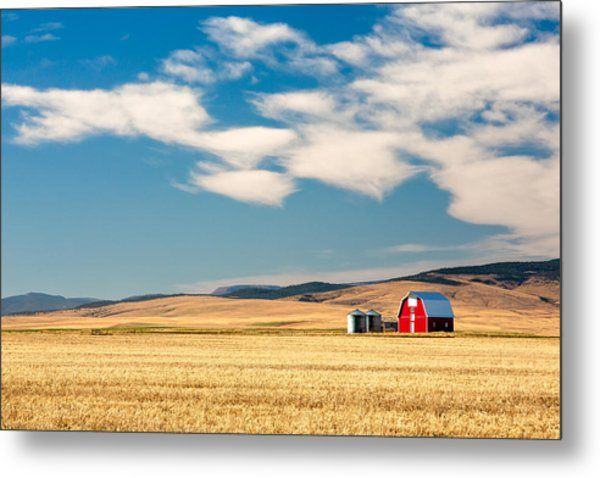 Prairie Red Metal Print
