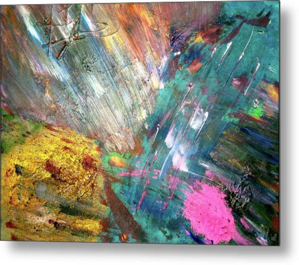 Metal Print featuring the painting Prana by Michael Lucarelli
