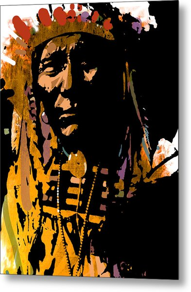 Proud Chief Metal Print