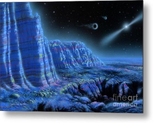 Pulsar Planets II Metal Print