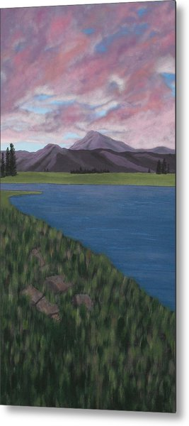 Purple Mountains Metal Print by Candace Shockley