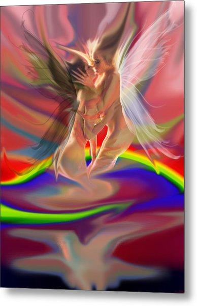 Rainbow Fairies Metal Print