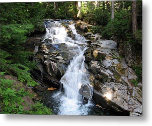 Rainier Waterfall Metal Print by Ty Nichols