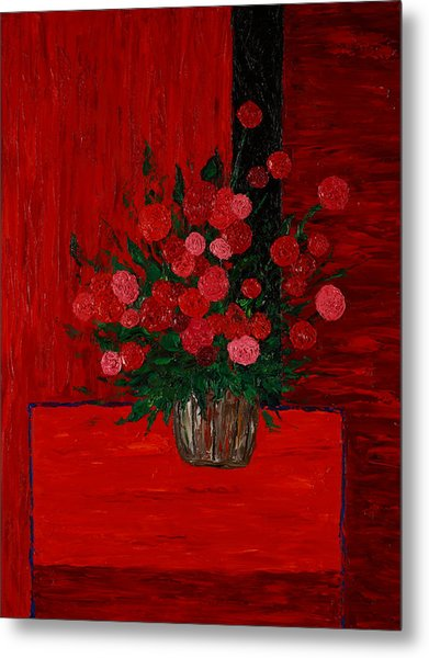 Red On Red On Red Metal Print by Timothy Clayton