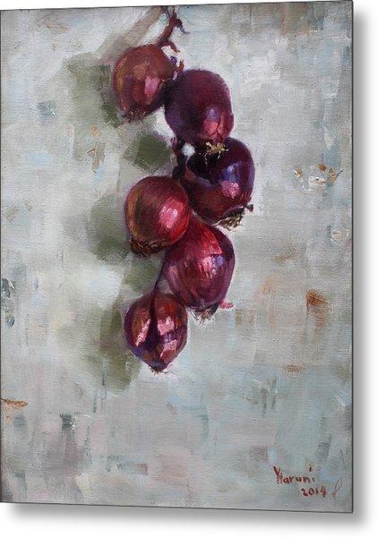 Red Onions Metal Print