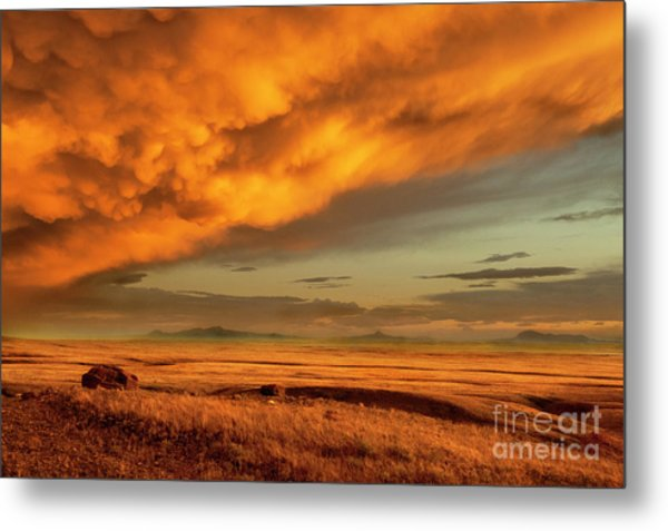 Red Rock Coulee Sunset 1 Metal Print