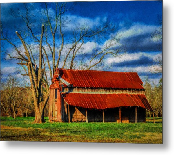 Red Roof Barn Metal Print