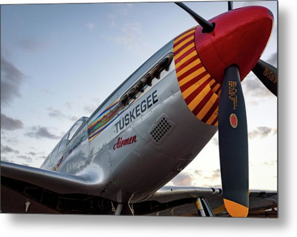 Red Tail At Dusk - 2017 Christopher Buff, Www.aviationbuff.com Metal Print