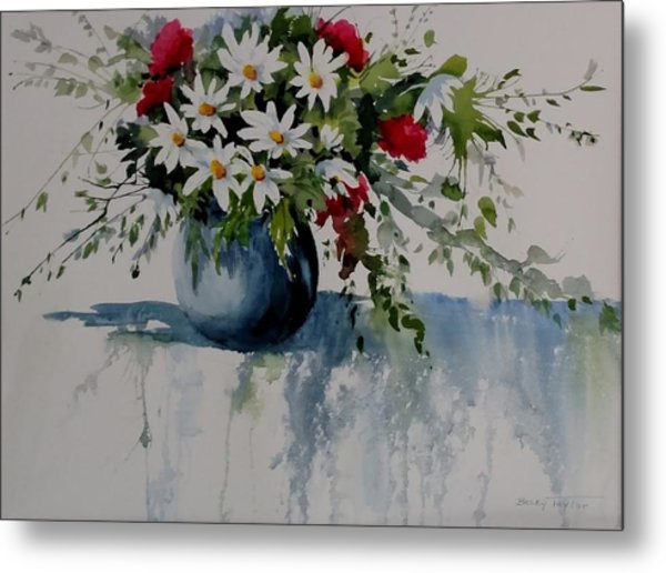Red White And Blue Bouquet Metal Print