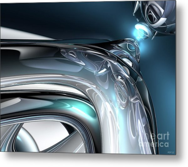 Reflections Of Blue Metal Print