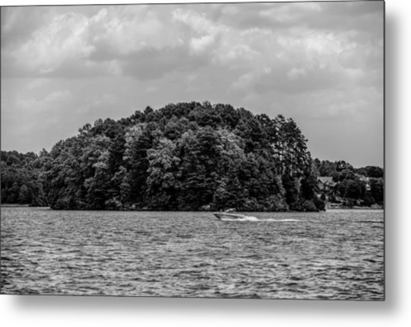 Metal Print featuring the photograph Relaxing On Lake Keowee In South Carolina by Alex Grichenko