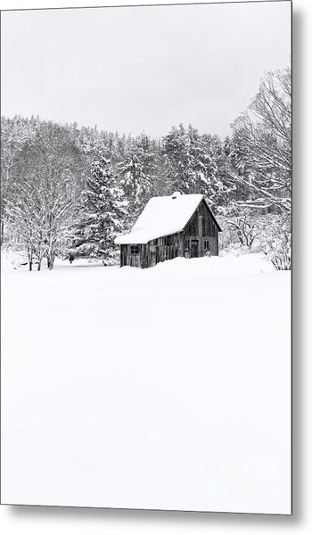 Metal Print featuring the photograph Remote Cabin In Winter by Edward Fielding