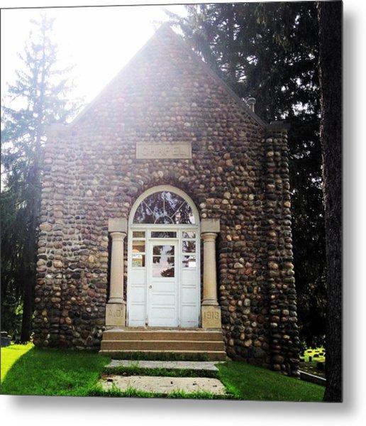 Riverside Cemetery Chapel Metal Print