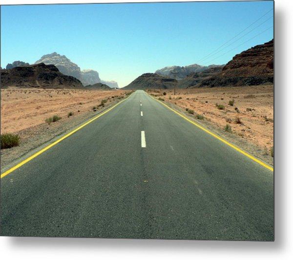 Road To Wadi Metal Print by James Lukashenko