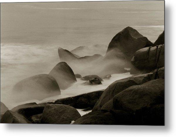 Rock And Sea Metal Print