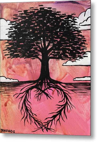 Metal Print featuring the painting Rooted In Love by Nathan Rhoads