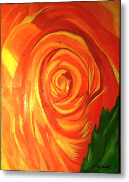Rose Metal Print by Misty VanPool
