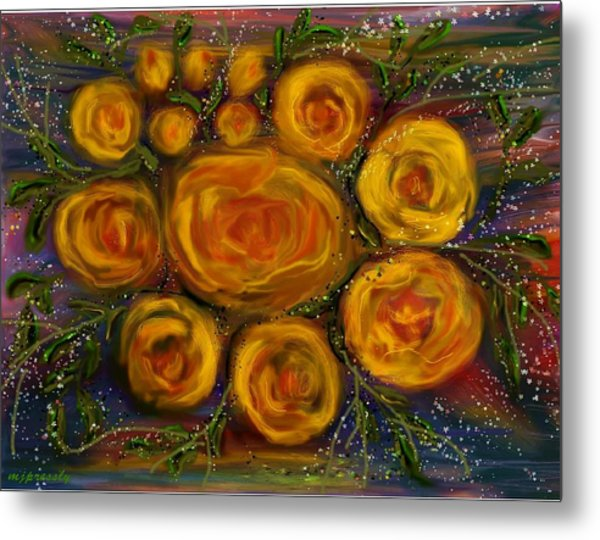 Roses Metal Print by June Pressly