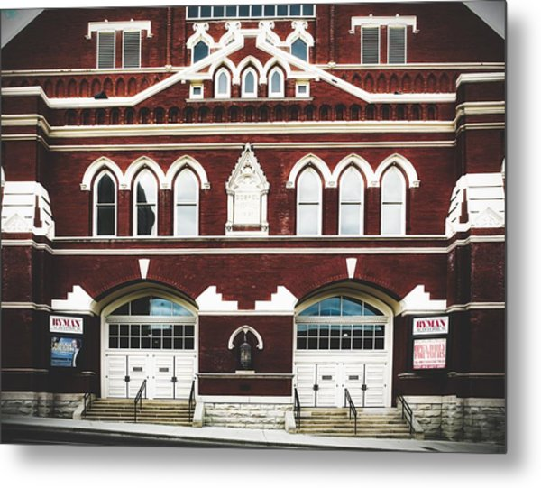 Ryman Auditorium -the Home Of Country Music Metal Print