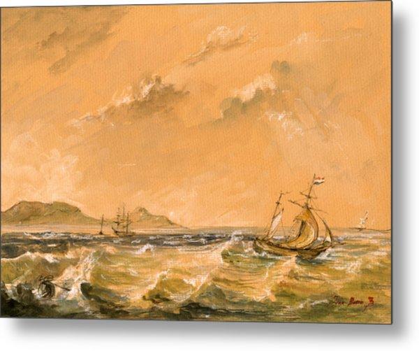 Sail Ship Metal Print