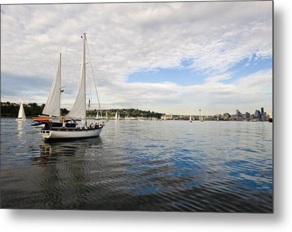 Sailing To Seattle Metal Print by Tom Dowd