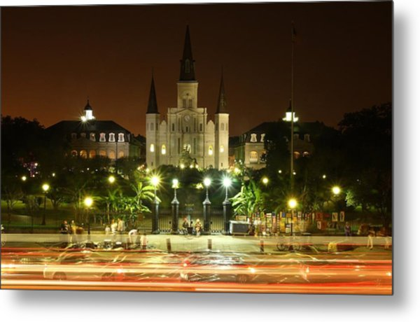 Saint Louis Cathedral In New Orleans Metal Print