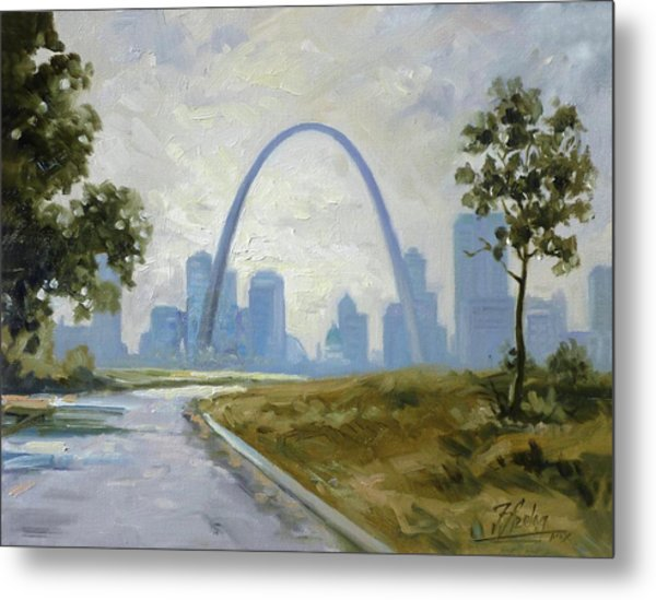 Saint Louis Panorama Metal Print
