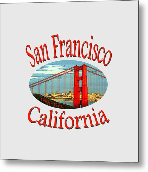 San Francisco California Design Metal Print