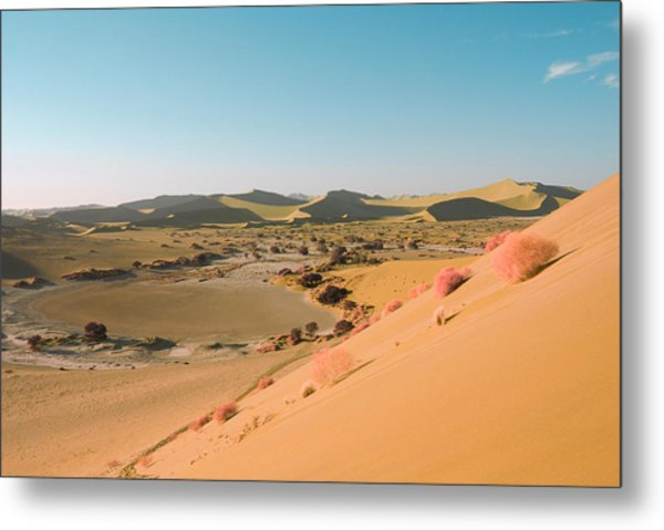 Metal Print featuring the pyrography Sand Dunes by Artistic Panda
