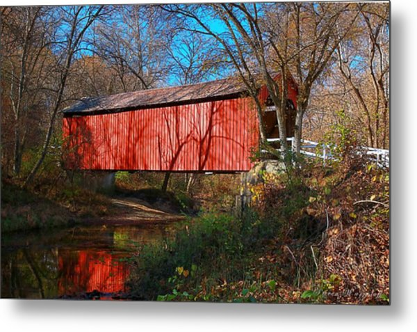 Sandy /creek Covered Bridge, Missouri Metal Print