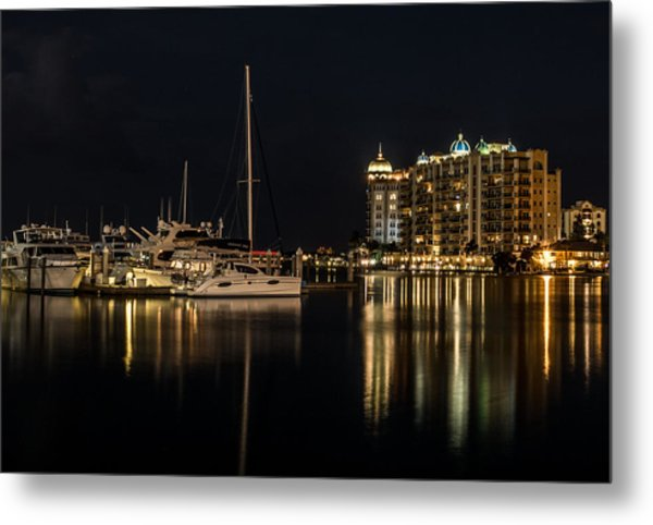 Sarasota Bay After Dark Metal Print