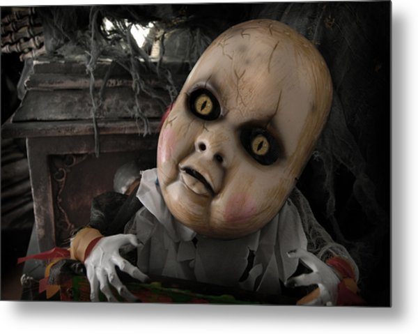 Scary Doll Metal Print by Craig Incardone