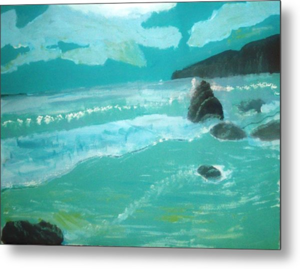 Seascape Metal Print by Hannah Walton