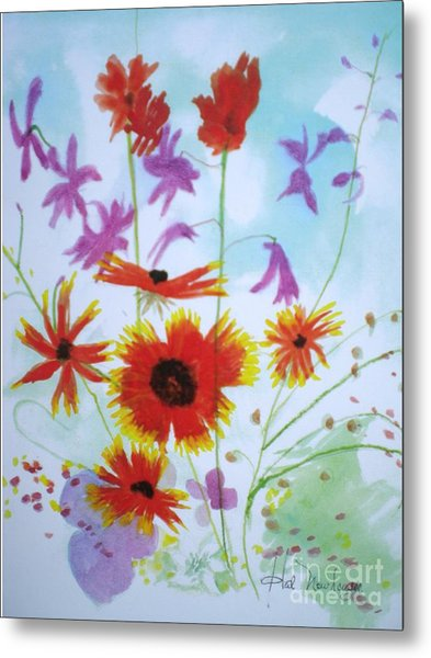Selected Wild Flowers Metal Print by Hal Newhouser