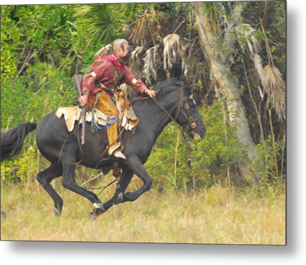 Seminole Indian Warrior Metal Print