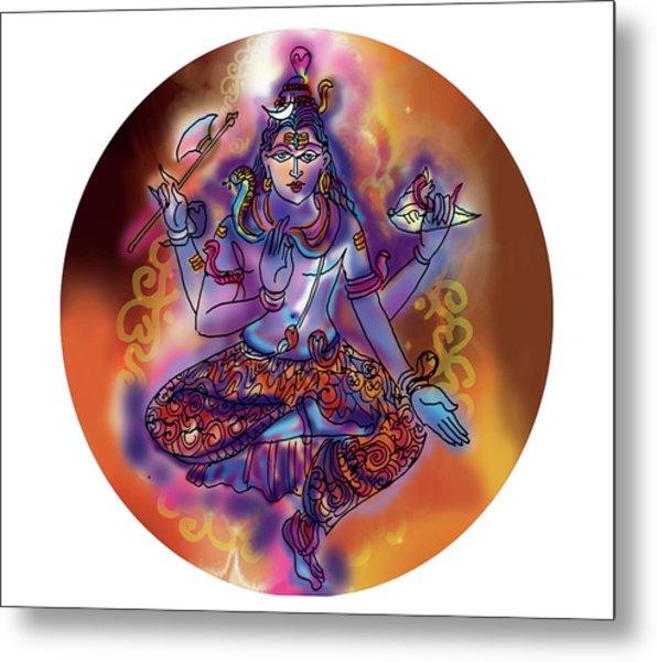 Shiva Dhyan Metal Print