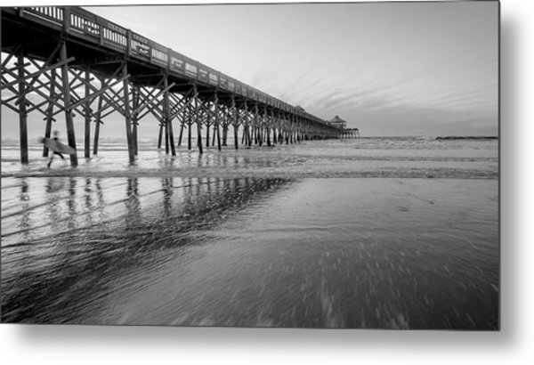 Shoot The Pier Metal Print by Michael Donahue