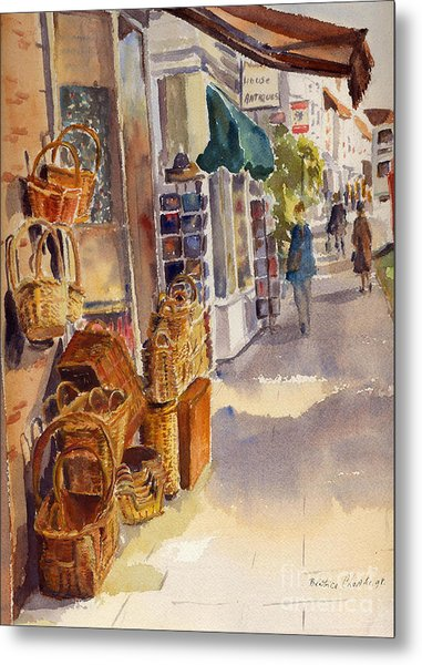 Shopping In Tenterden Metal Print