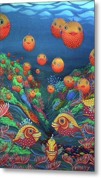 Sillyfish 2 Metal Print by Barbara Stirrup