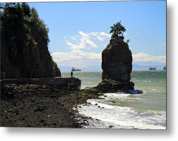 Siwash Rock Stanley Park Vancouver Metal Print by Pierre Leclerc Photography