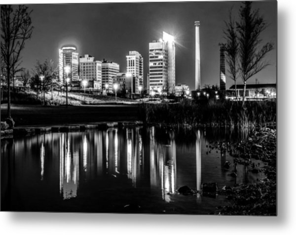 Skyline Of Birmingham Alabama From Railroad Park Metal Print