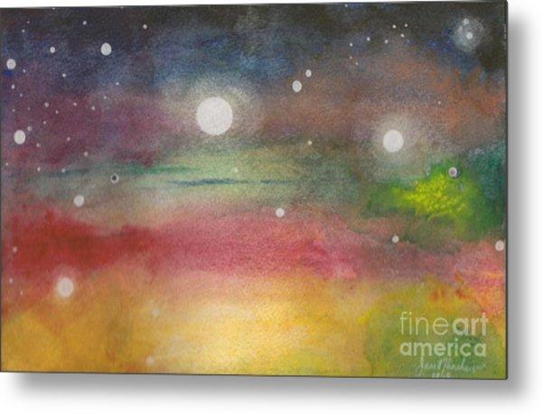 Space Rainbow Metal Print by Janet Hinshaw