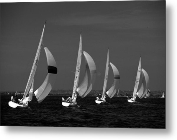 Spinnaker Run Metal Print