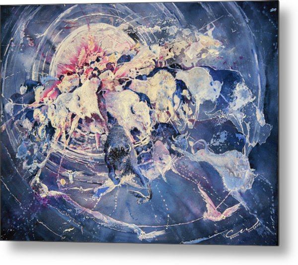 Spirits Released Large Metal Print