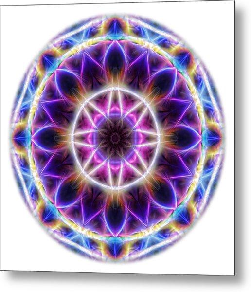 Spring Energy Mandala 2 Metal Print
